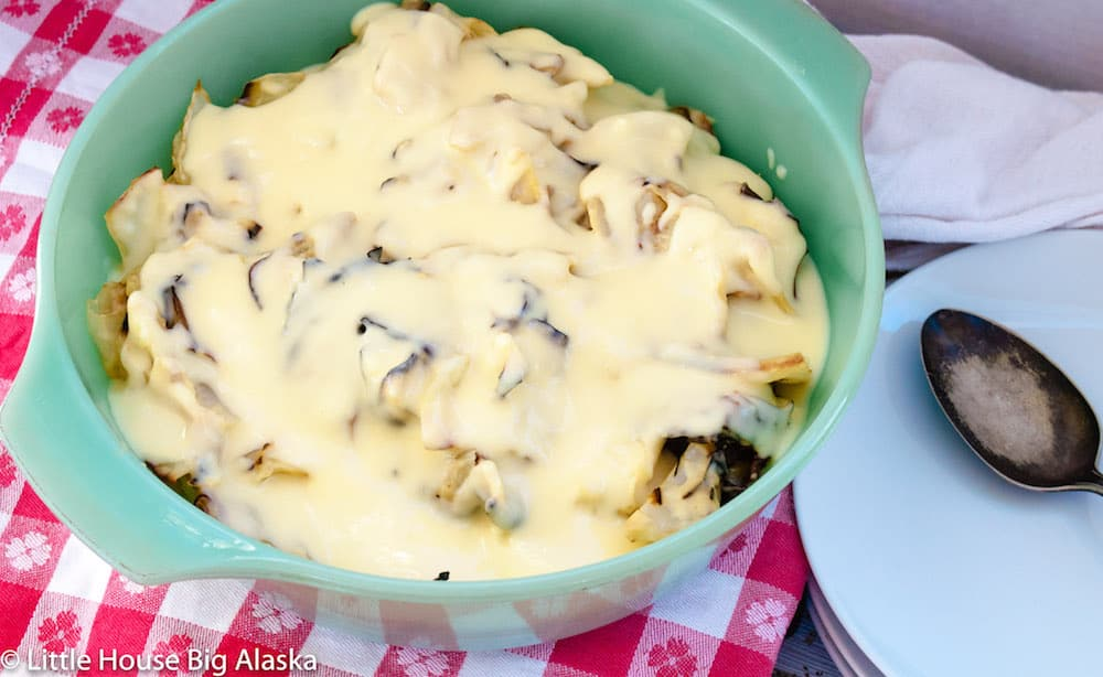 Roasted Cabbage with Cheese Sauce
