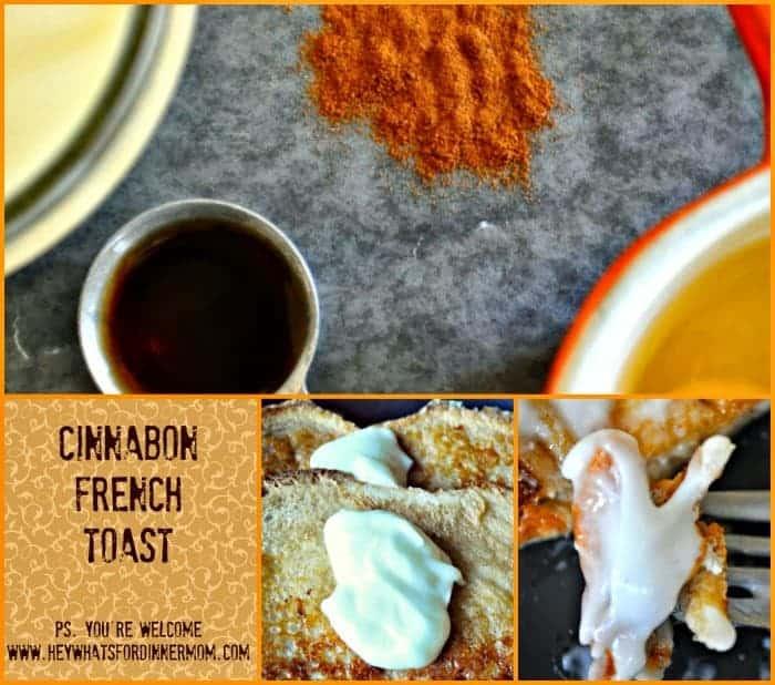 Cinnabon French Toast with Cream Cheese Glaze