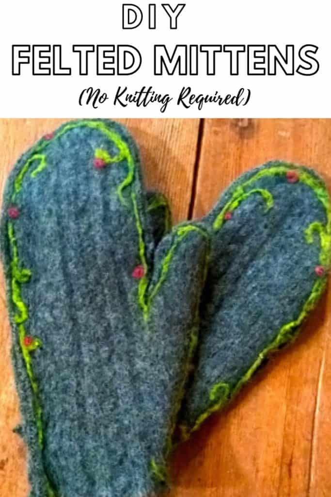 Pin for DIY FELTED MITTENS