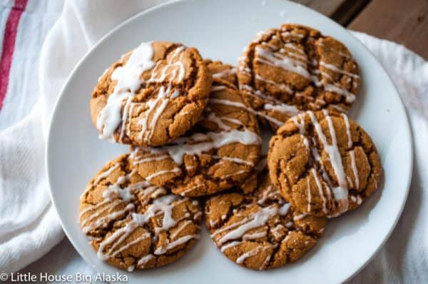 Iced Spicy Gingersnaps with cayenne and ginger