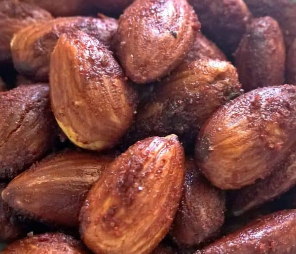 Roasted Almonds If you're following a Whole30 diet plan or you're Paleo or you just want some dang good almonds, here's an easy recipe for Barbecue Almonds. #paleocookies #paleo #whole30 #keto #lowcarb #lowsugarrecipes #lowsugarsnacks #lowsugartreats #lowsugardiet #paleorecipe #paleosnacks