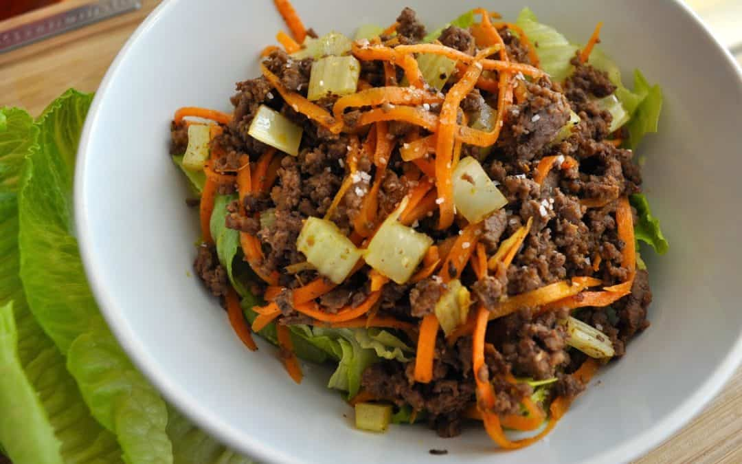 Chinese 5 Spice Beef Lettuce Wraps