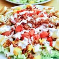 Club Sandwich Salad with Bacon Dressing