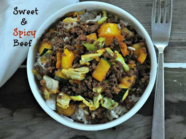 25 Minute Dinner Sweet and Spicy Beef