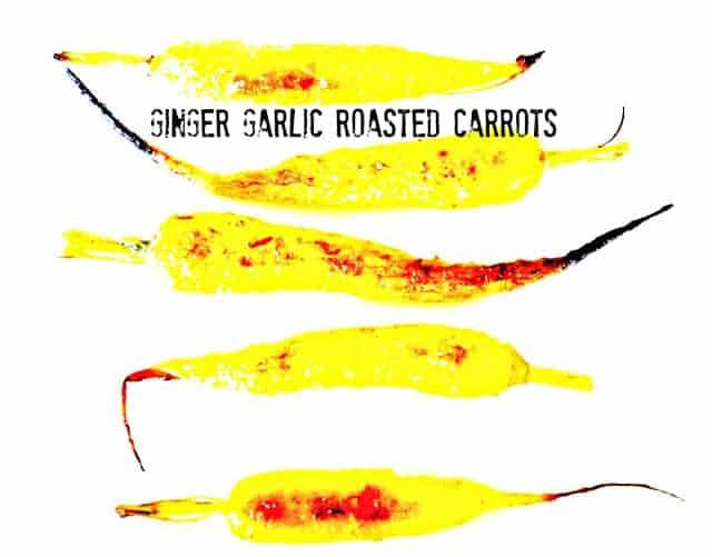 Ginger Garlic Roasted Carrots