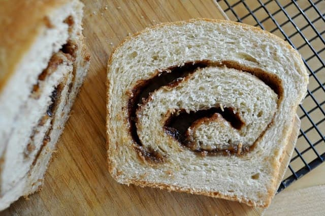 Yeasted Banana Cinnamon Swirl Bread
