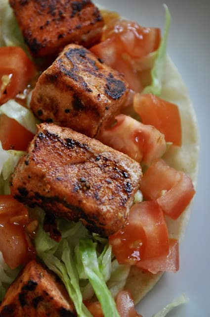 Spicy Alaska Salmon for Tacos