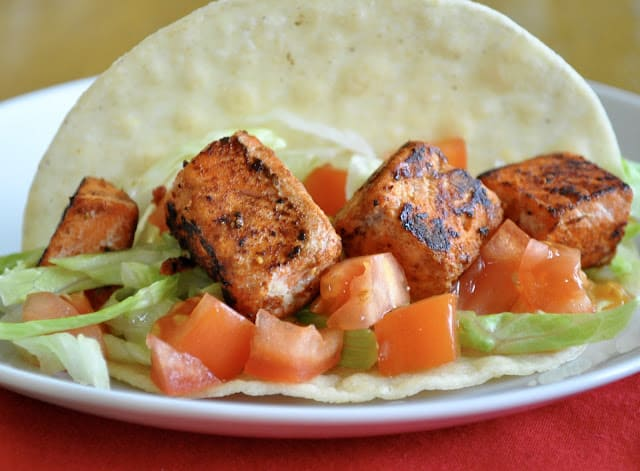 Spicy Salmon for Tacos