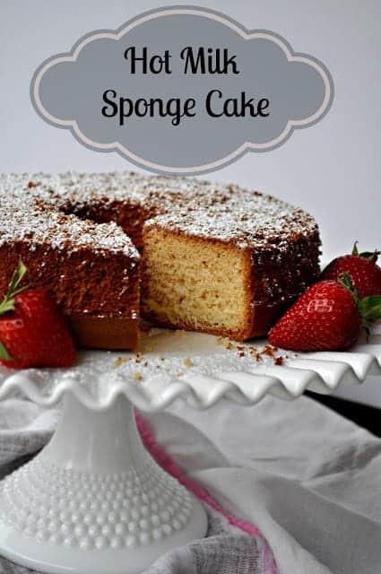 Hot Milk Sponge Cake #SundaySupper