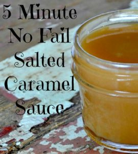 5 minute no fail Salted Caramel Sauce