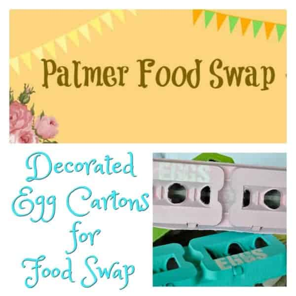 Decorated Egg Cartons for Food Swap
