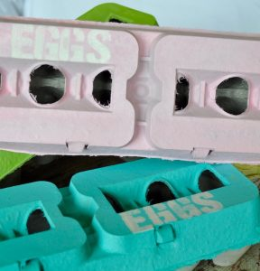 Decorating Egg Cartons for Food Swap