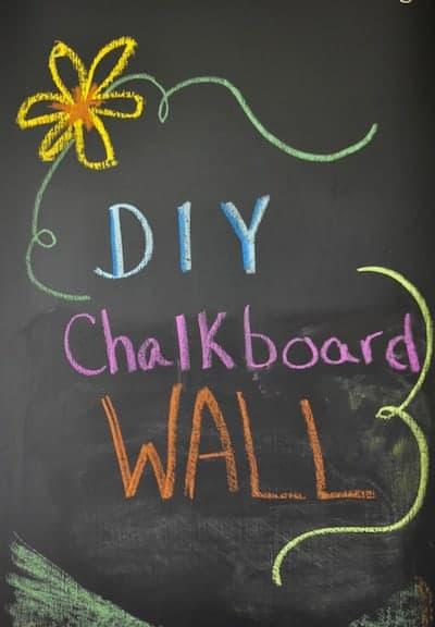 Easy to Make DIY Custom Chalkboard Wall