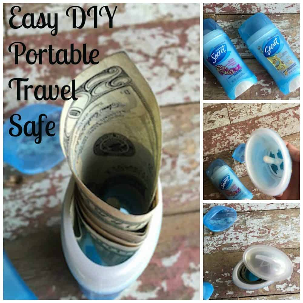 DIY Portable Travel Safe-Traveling with Cash