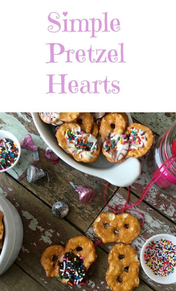 Simple Pretzel Hearts collage