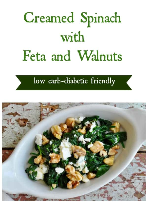 Creamed Spinach with Feta and Walnuts collage