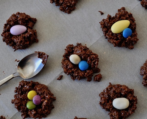 DIY Coconut Granola Nests Easter Nests