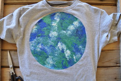 image of finished Earth Day Shirt