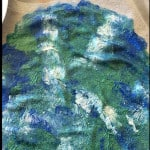 image showing sponge painted earth on a t-shirt