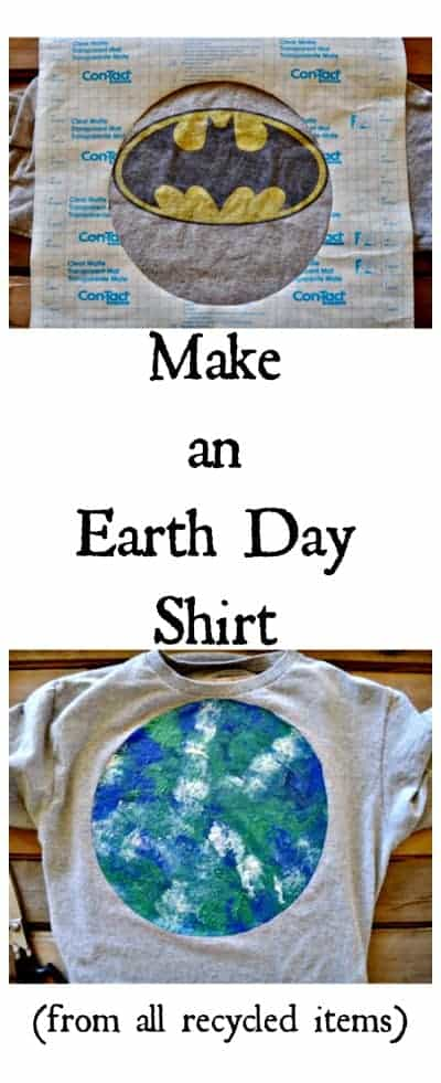 image showing earth day shirt from an old shirt