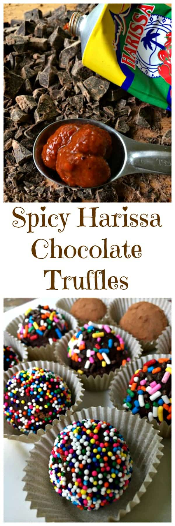 Spicy Harissa Chocolate Truffles