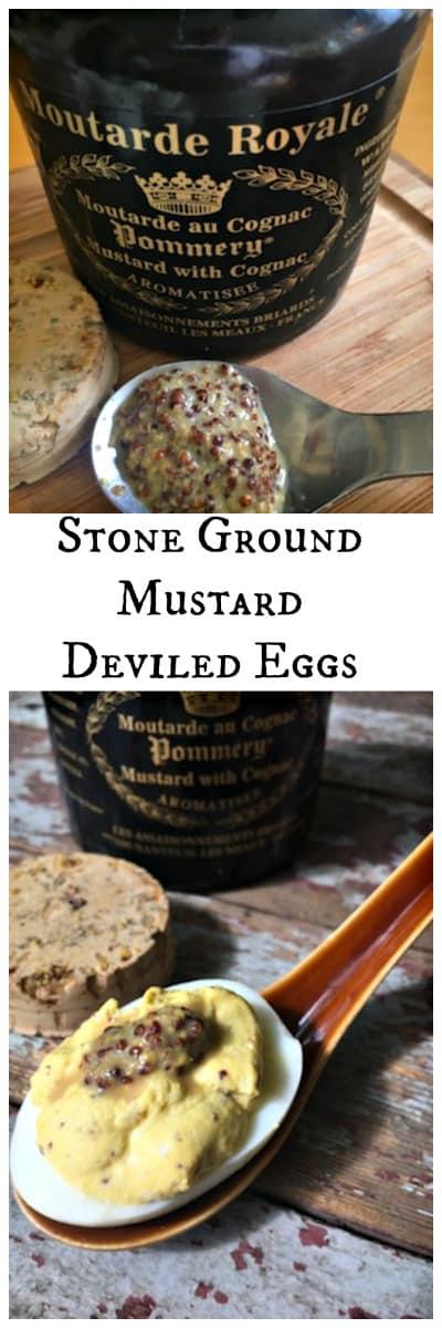 Stone Ground Mustard Deviled Eggs collage