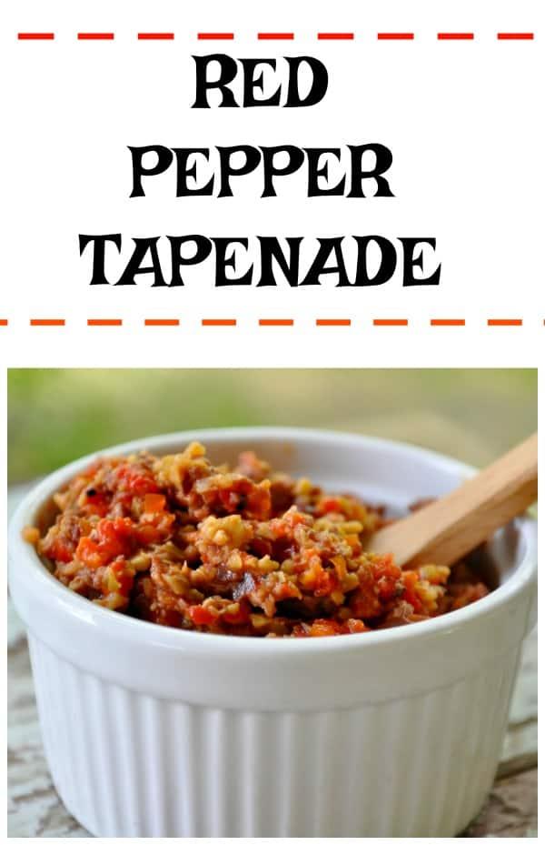 Red Pepper Tapenade Recipe Collage