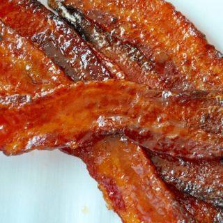 Sriracha Glazed Bacon