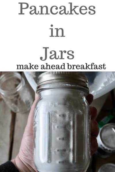 Pancakes in Jars--easy make ahead breakfast
