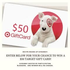 Target Gift Card Giveaway Recipe Round Up January 2018