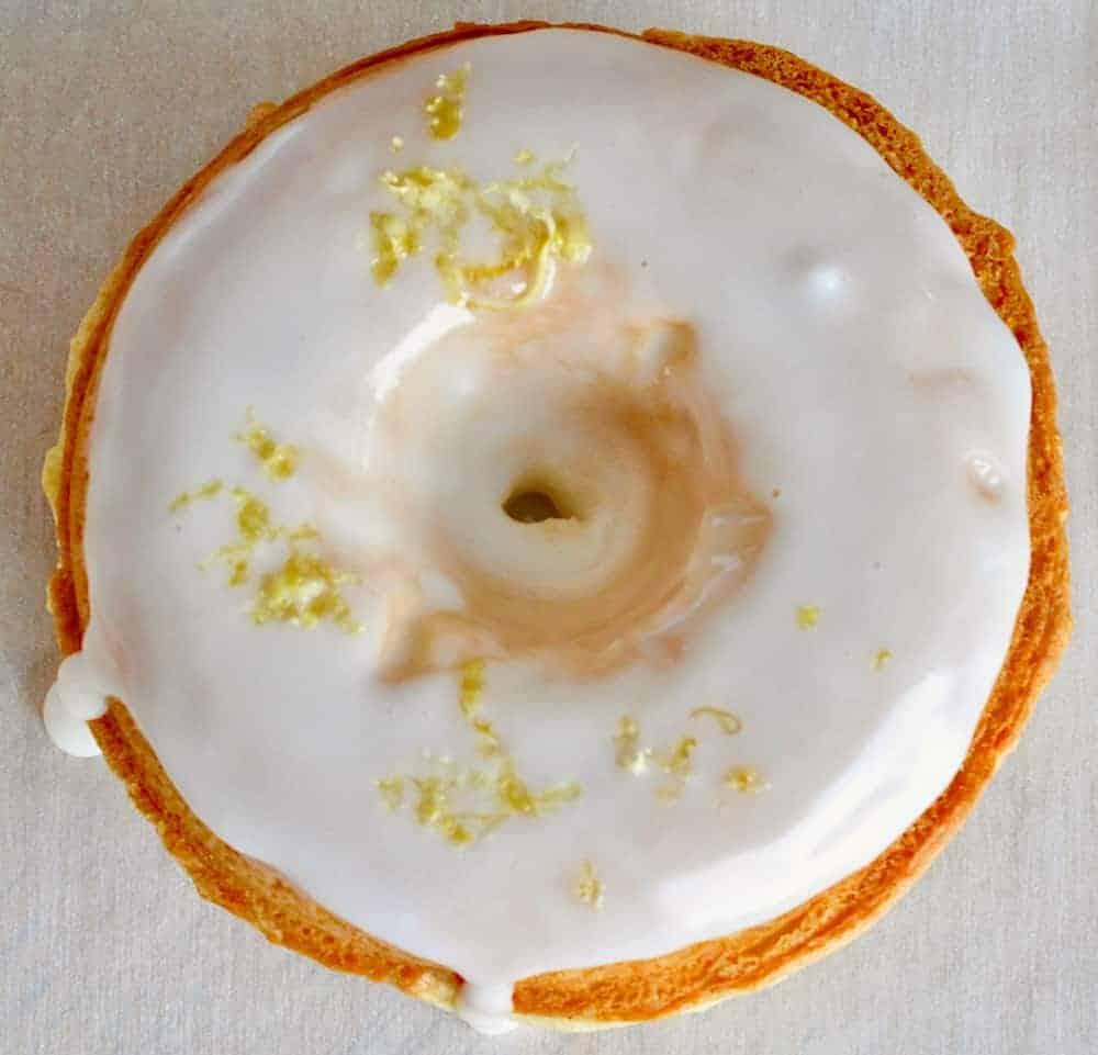 Baked Sour Cream Doughnuts with Lemon Glaze