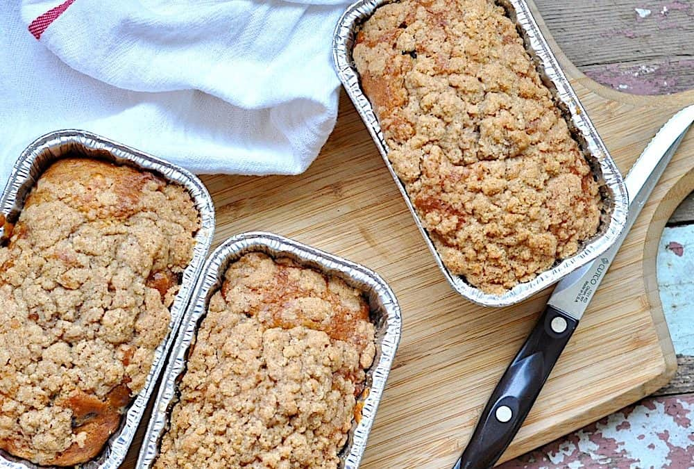 Chocolate Chip Banana Bread with Streusel