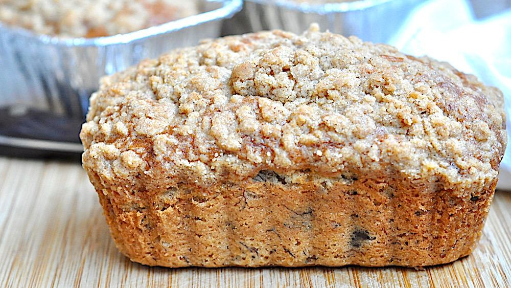Chocolate Chip Banana Bread with Streusel Topping