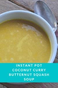 Instant Pot Coconut Curry Butternut Squash Soup
