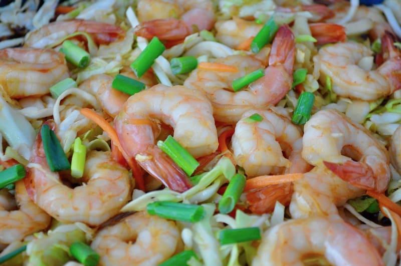Ginger Garlic Shrimp Stir Fry | Little House Big Alaska