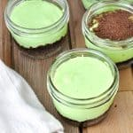 Mint Cheesecakes Jars