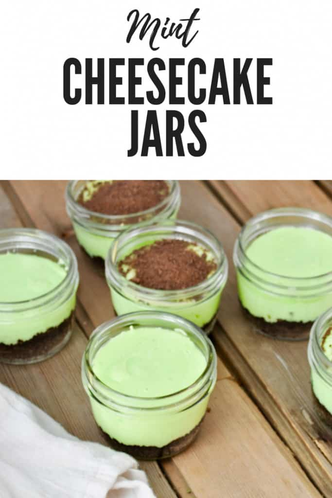 Pin for Mint Cheesecake Jars