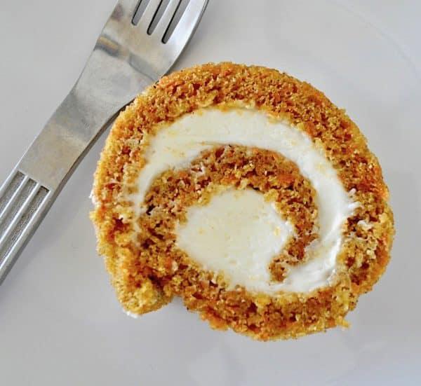 Carrot Cake Roll Slice