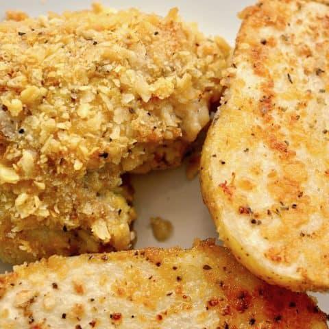 Oven Fried Chicken Sheet Pan Dinner
