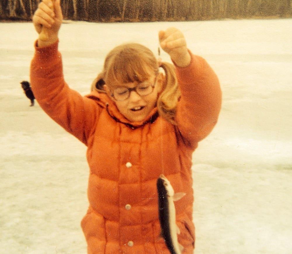 Laura Ice Fishing 1978