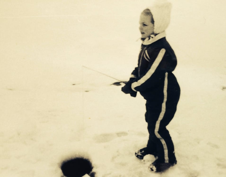 Laura Ice Fishing Alaska 1972