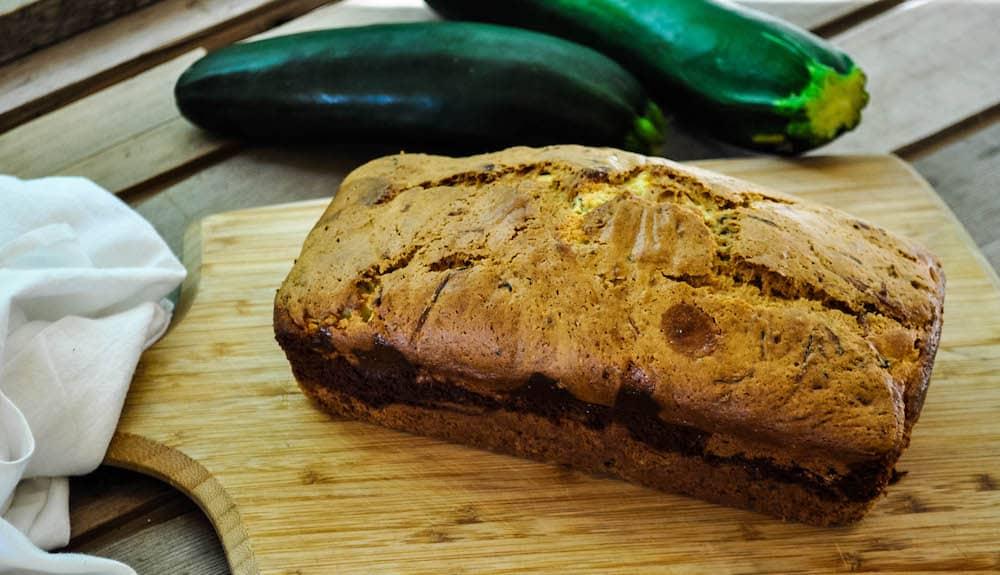 Zucchini Bread with Cheesecake Swirl