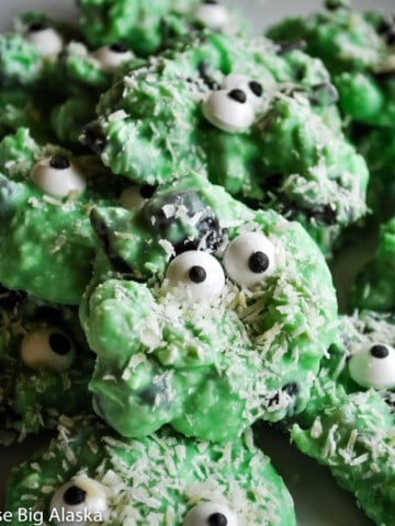 Green Monster Chocolate Fruit Clusters