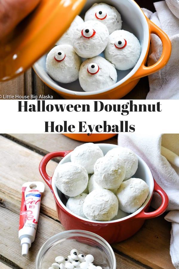 Halloween Doughnut Hole Eyeballs