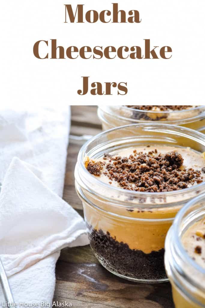 Mocha Cheesecake Jars