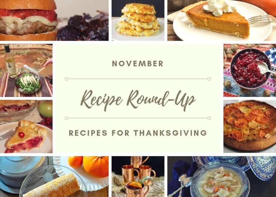 Recipe Round Up November 2018