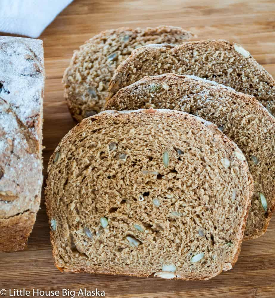 Danish Rye Bread loaf and slices