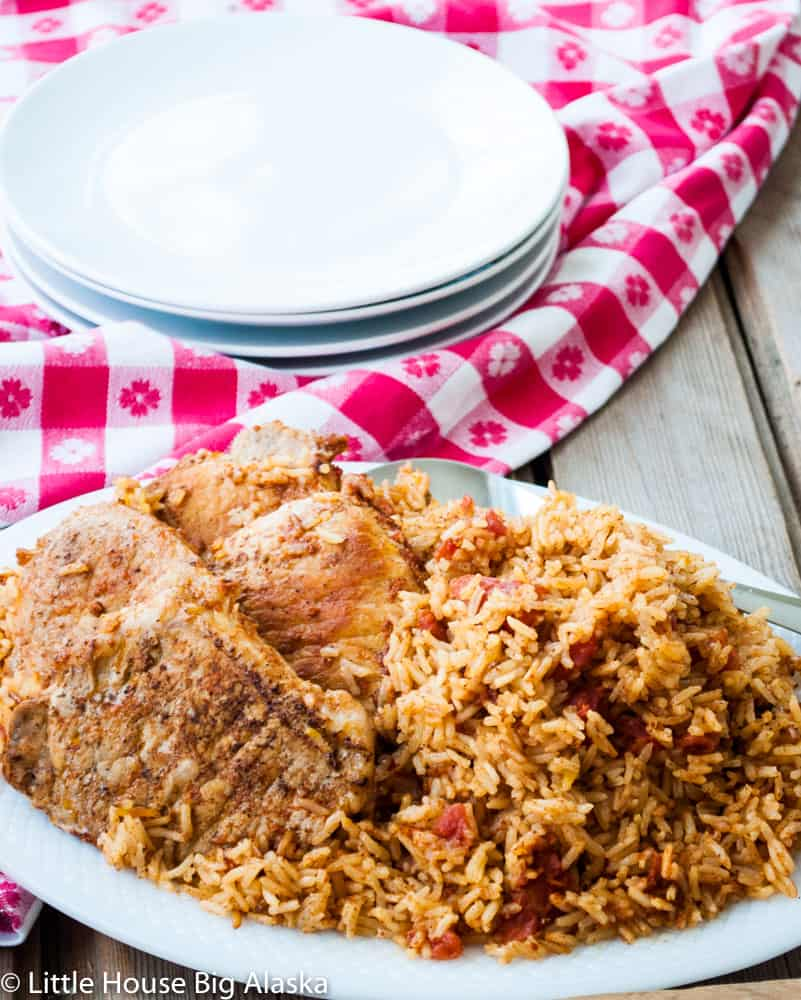 Dinner is SERVED--Instant Pot Spanish Rice with Pork Chops_-2