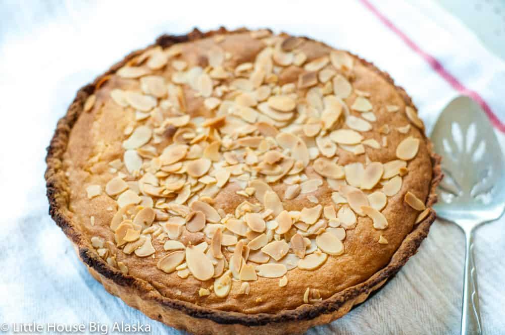 bakewell tart in the tart pan