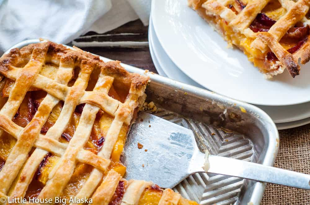 Nectarine Slab Pie